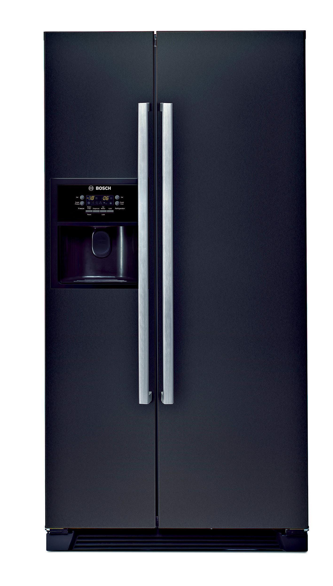 bosch kan58a55gb side by side fridge freezer black. Black Bedroom Furniture Sets. Home Design Ideas