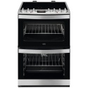 CCB6740ACM AEG 60cm 4 Zone Ceramic Double Oven Steambake St/St
