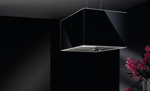 AirUno MEDEABGISE Air Uno Medea 60 Wide Black Glass Island Hood