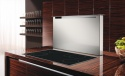 PARSIFAL120B Air Uno Parsifal 120 Wide Black Glass Downdraft Hood