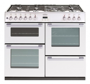 Belling DB4100DFTWHT Dual Fuel Range Cooker White