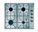 GHU60GEMK2K Belling 60w Gas Hob W/ Enamel Pan Supports Black
