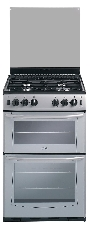 GT552S Belling 55cm Slot In Gas Twin Cavity Cooker Silver