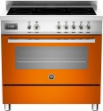 PRO905IMFESO Bertazzoni Pro 90 5 Zone Induc Single Oven Range Orange