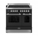 RC9TIFLKMK2 Britannia 90cm Twin Induction Range Black