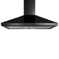 CDA ECH101BL 100cm Chimney Extractor Hood  Black