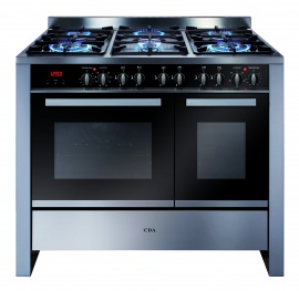 CDA RV1002SS 100 Electronic Oven Gas Hob Range Cooker St/St