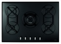 HVG720BL CDA 70cm Five Burner Gas On Glass Hob Black
