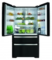 PC870BL CDA American Style 2 Door Fridge Pull out Freezer Black