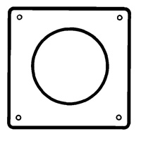 "EasiDuct 1145W - 125mm (5"") Round Wall Plate"