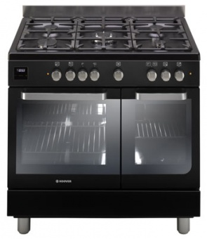 Hoover HGD9395BL 90cm Twin Cavity Dual Fuel Range Cooker