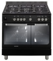 HGD9395BL Hoover 90cm Twin Cavity Dual Fuel Range Cooker