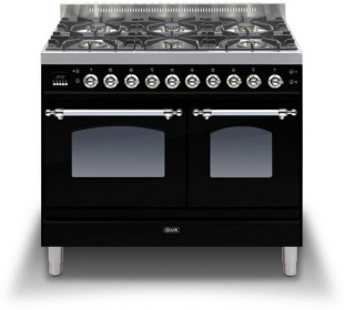 Ilve PDN1006E3BLK Milano 100cm Twin Gas 6 Burner Black