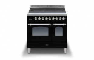 Ilve PDNI90E3BLK Milano 90cm Twin 5 Zone Induction Black