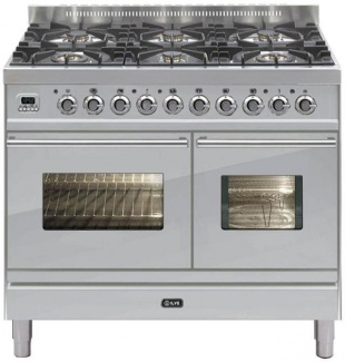 Ilve PDW1006MWMTB Roma 100cm Wide Micro Gas 6 Burner Matt Black