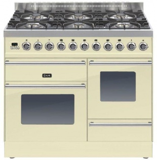 Ilve PTW1006E3CR Roma 100cm Wide Xg Gas 6 Burner Cream