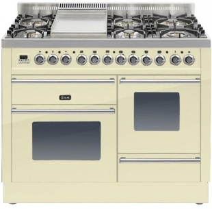 Ilve PTW110FE3CR Roma 110cm Wide XG Gas 6 Burner & Fry Top Cream
