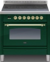 MI09NE3EG Ilve Majestic Milano 90cm 5 Zone Induction E/Green