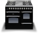 PDN100FEPBLK Ilve 100cm Milano 4 Gas Burner & Fry Top Black