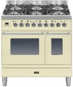 PDW906E3WH Ilve Roma 90cm Wide Twin Gas 6 Burner White