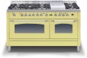 PN150FE3CR Ilve Milano 150cm Gas 6 Burner, Fish & Fry Top Cream