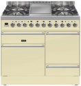 PTQ100FE3CR Ilve Roma 100cm Wide SD-ZG Gas 4 Burner & Fry Top Cream