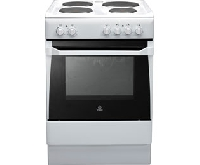 Indesit IS60EWS Electric Solid Plate Single Oven