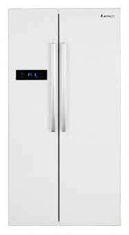 Lec AFF90185W 444443886 Side By Side Fridge Freezer White