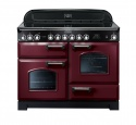 84440 Rangemaster 110 Classic Deluxe Ceramic Red & Chrome