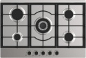 RUBGHC701SS Reeva 70cm Gas Hob Cast Iron Supports St/Steel