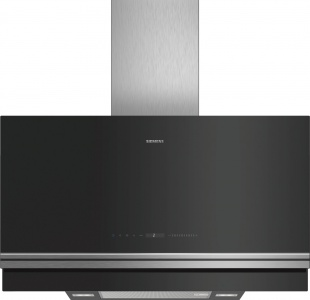 Siemens LC97FVW60B 90cm HomeConnect Flat Glass Wall Hood Black